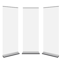 Roll Up Banners vector