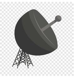 satellite antenna icon cartoon style vector image