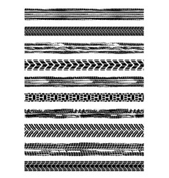 Seamless tire marks brushes vector