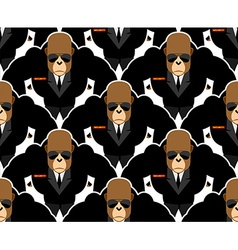 Security guard monkey seamless pattern Bodyguards vector image
