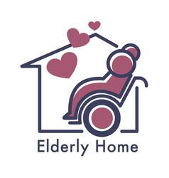 Senior people care nursing or elderly home vector