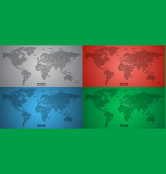 set of world map pcb design vector image