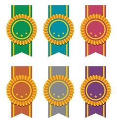 set ribbon badges vector image