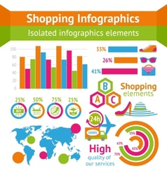 Shopping infographic set vector