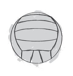 Sketch of a volleyball ball vector