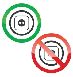Socket permission signs vector