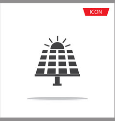 solar panel icon isolated on white background vector image