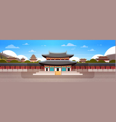 south korea landmark famous palace traditional vector image