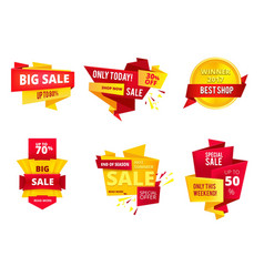 special offer abstract banners big sales vector image