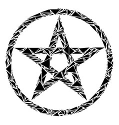 Star pentacle collage triangles vector