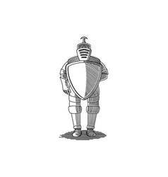 Suit armor vector