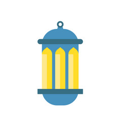 traditional arabic luminous lantern muslim vector image