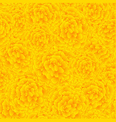 Yellow marigold seamless background vector