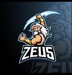 Zeus mascot logo design with modern vector
