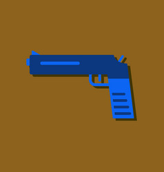 Flat icon design collection military pistol in vector