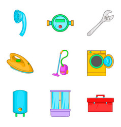 master icons set cartoon style vector image vector image