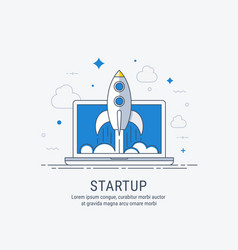 startup for web vector image vector image