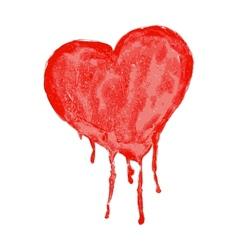 watercolor heart - vector image