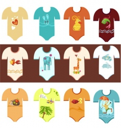 baby clothing set vector image vector image