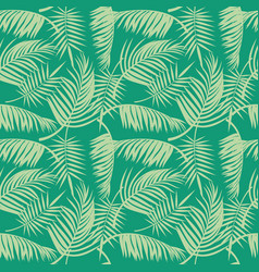 beach seamless pattern with tropical palm vector image vector image