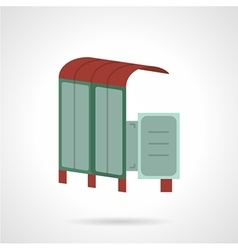 Bus station flat icon vector image vector image