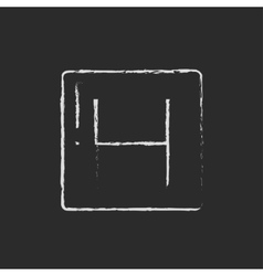 Hospital sign icon drawn in chalk vector image