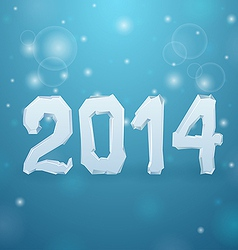 Ice New Year background 2014 vector image vector image