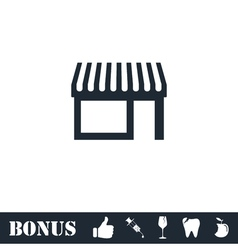 Showcase icon flat vector image