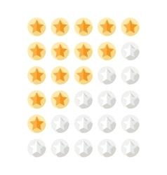 Stars Rating Set vector image