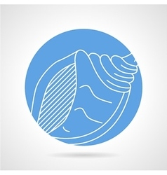 Blue icon for sea shell vector image