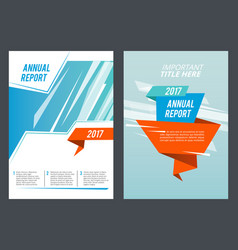 design presentation brochure or annual report vector image