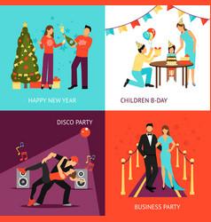 Party concept set vector