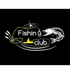 Pike fishing club vector image