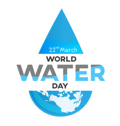 world water day white background greeting card vector image vector image