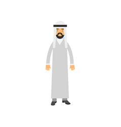 arabian male character in traditional muslims vector image