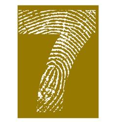 Fingerprint Alphabet No 7 vector image vector image