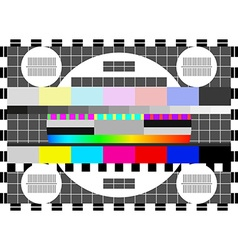 Glitch error signal Loss of the television signal vector image