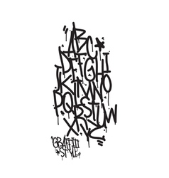 Graffiti alphabet Letters of the alphabet written vector image vector image