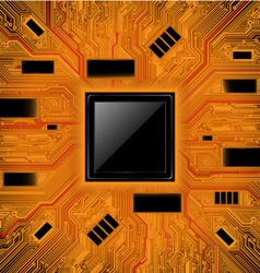 Technology abstract background Chipset concept vector image
