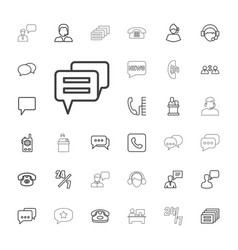 33 talk icons vector
