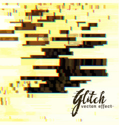 abstract glitch background vector image