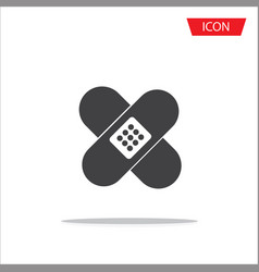adhesive plaster icon isolated on white vector image