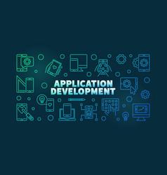 application development colored horizontal vector image