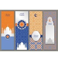 arabicislammuslim pattern bannerstemplates set vector image