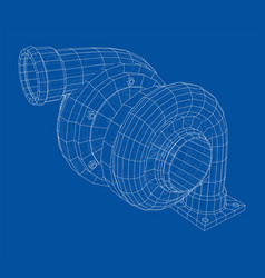 automobile turbocharger concept outline vector image