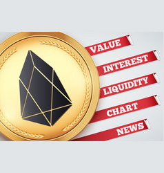 background of eos cryptocurrency vector image
