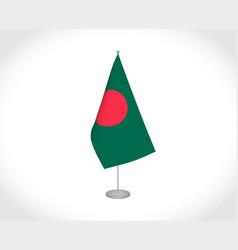 Bangladesh flag on white background vector