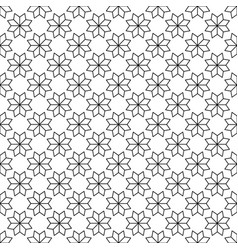 black flower star japanese seamless on white vector image