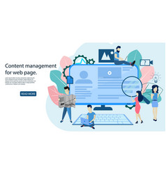 blogging concept content management for web page vector image