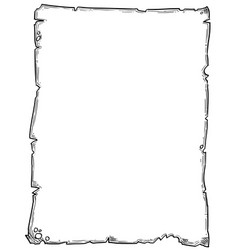 Cartoon drawing of empty background scroll vector